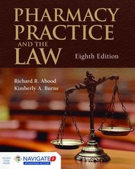 Pharmacy Practice and the Law 8th Edition 9781284089110 1284089118