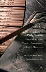 Order in Early Chinese Excavated Texts 1st Edition 9781137546968 1137546964