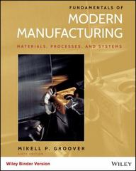 Fundamentals of Modern Manufacturing, Binder Ready Version 6th Edition 9781119128694 1119128692