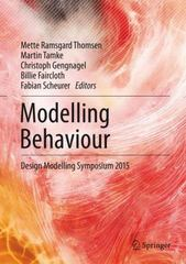 Modelling Behaviour 1st Edition 9783319242088 3319242083