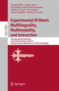 Experimental IR Meets Multilinguality, Multimodality, and Interaction 1st Edition 9783319240275 3319240277
