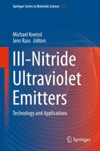 III-Nitride Ultraviolet Emitters 1st Edition 9783319240985 3319240986