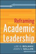 Reframing Academic Leadership 1st Edition 9780470929254 0470929251