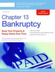 Chapter 13 Bankruptcy 13th Edition 9781413322712 1413322719