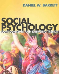 Social Psychology 1st Edition 9781506310596 1506310591