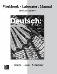 Workbook/Lab Manual for Deutsch: Na klar! 7th Edition 9781259290831 1259290832
