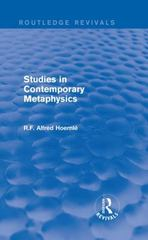 Studies in Contemporary Metaphysics 1st Edition 9781138187283 1138187283