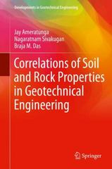 Correlations of Soil and Rock Properties in Geotechnical Engineering 1st Edition 9788132226277 8132226275