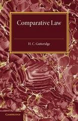 Comparative Law 1st Edition 9781107594722 1107594723