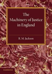 The Machinery of Justice in England 1st Edition 9781107594784 1107594782