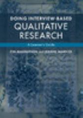 Doing Interview-Based Qualitative Research 1st Edition 9781107674707 1107674700