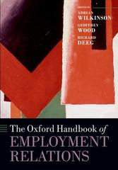 The Oxford Handbook of Employment Relations 1st Edition 9780198746546 0198746547