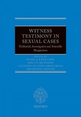 Witness Testimony in Sexual Cases 1st Edition 9780199672936 0199672938