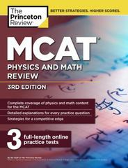 MCAT Physics and Math Review, 3rd Edition 3rd Edition 9781101920596 1101920599