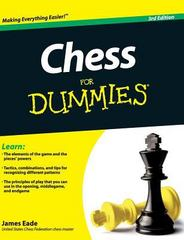 Chess for Dummies 3rd Edition 9781119173960 1119173965