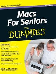 Macs for Seniors for Dummies 1st Edition 9781119175605 1119175607