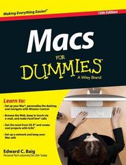 Macs for Dummies 13th Edition 9781119175612 1119175615