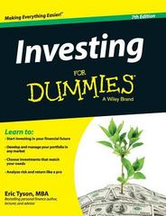 Investing for Dummies 7th Edition 9781119175704 1119175704
