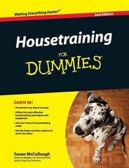 Housetraining for Dummies 2nd Edition 9781119175728 1119175720