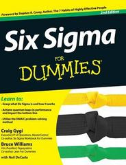 Six SIGMA for Dummies 2nd Edition 9781119176084 1119176085