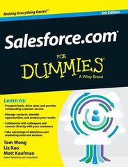Salesforce. com for Dummies 5th Edition 9781119176091 1119176093