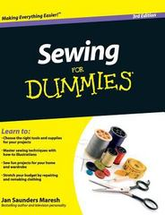Sewing for Dummies 3rd Edition 9781119176107 1119176107