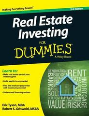 Real Estate Investing for Dummies 3rd Edition 9781119176121 1119176123