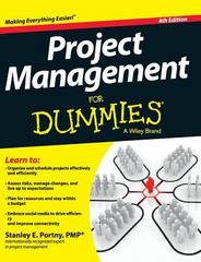 Project Management for Dummies 4th Edition 9781119176169 1119176166