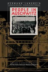 People in Auschwitz 1st Edition 9781469628370 1469628376