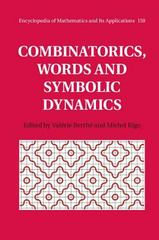 Combinatorics, Words and Symbolic Dynamics 1st Edition 9781107077027 1107077028