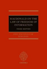 The Law of Freedom of Information 3rd Edition 9780198724452 0198724454