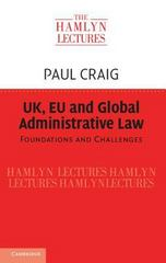 UK, EU and Global Administrative Law 1st Edition 9781107125124 110712512X