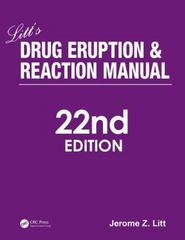 Litt's Drug Eruption and Reaction Manual, 22nd Edition 22th Edition 9781498761383 1498761380