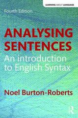 Analysing Sentences 4th Edition 9781138947344 1138947342