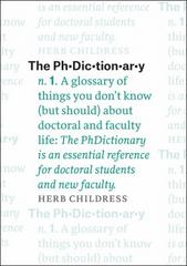 The PhDictionary 1st Edition 9780226359281 022635928X