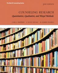 Counseling Research 2nd Edition 9780134025094 0134025091