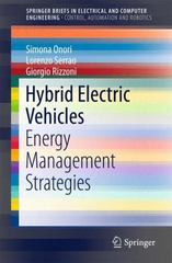 Hybrid Electric Vehicles 1st Edition 9781447167815 1447167813