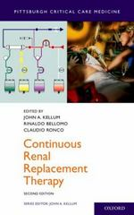 Continuous Renal Replacement Therapy 2nd Edition 9780190225544 0190225548