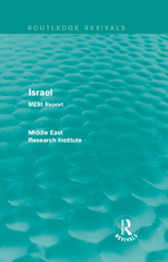 Israel (Routledge Revival) 1st Edition 9781317450177 1317450175