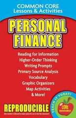 Personal Finance - Common Core Lessons & Activities 1st Edition 9780635119896 0635119897