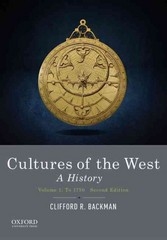 Cultures of the West 2nd Edition 9780190240462 0190240466