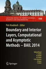 Boundary and Interior Layers, Computational and Asymptotic Methods - BAIL 2014 1st Edition 9783319257259 3319257250