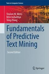 Fundamentals of Predictive Text Mining 2nd Edition 9781447167495 144716749X