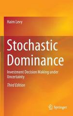 Stochastic Dominance 3rd Edition 9783319217079 3319217070