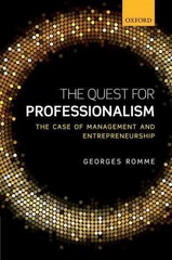 The Quest for Professionalism 1st Edition 9780198737735 0198737734