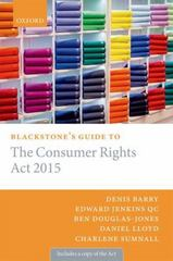Blackstone's Guide to the Consumer Rights Act 2015 1st Edition 9780198726111 0198726112