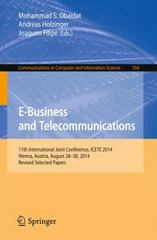 E-Business and Telecommunications 1st Edition 9783319259154 3319259156