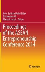 Proceedings of the ASEAN Entrepreneurship Conference 2014 1st Edition 9789811000362 9811000360