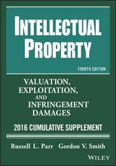 Intellectual Property 12th Edition 9781119238393 1119238390