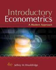 Introductory Econometrics 4th Edition 9781111805333 1111805334